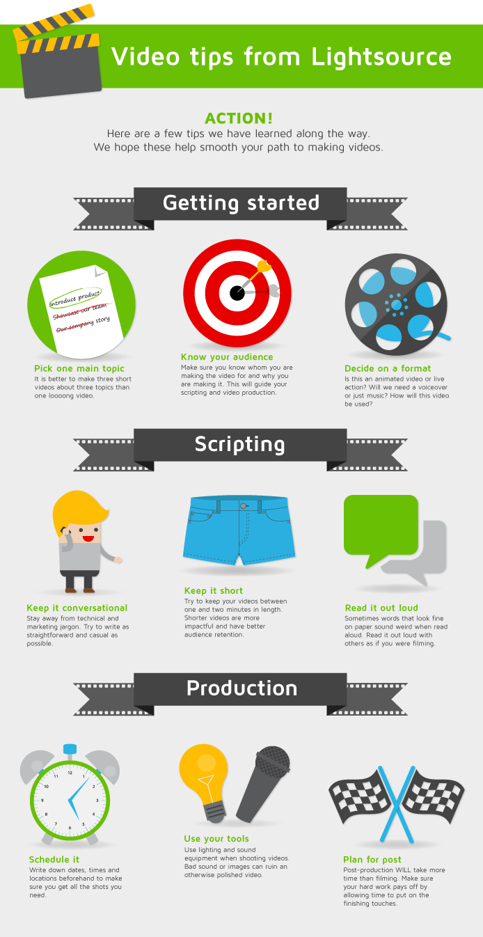 Video tips infographic